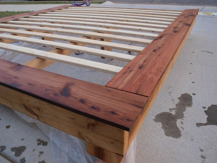 Gorgeous Queen Size Bed Planks King Size Platform Frame Do It Yourself Home Projects From Ana