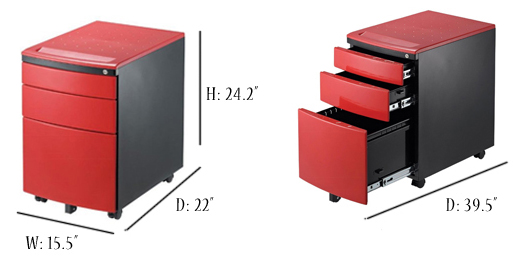Gorgeous Red Filing Cabinet Reo Smart 215 3 Drawer Mobile Cabinet Red