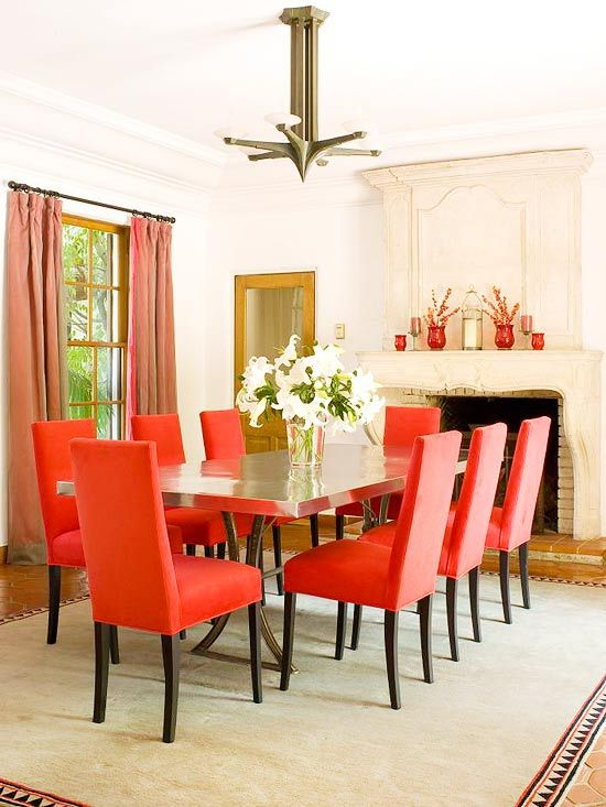 Gorgeous Red Upholstered Dining Room Chairs Fantastic Red Upholstered Dining Room Chairs And Red Upholstered