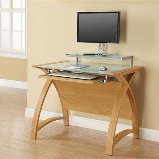 Gorgeous Small Computer Desk Extraordinary Oak Computer Desk Fancy Home Decor Ideas With Small