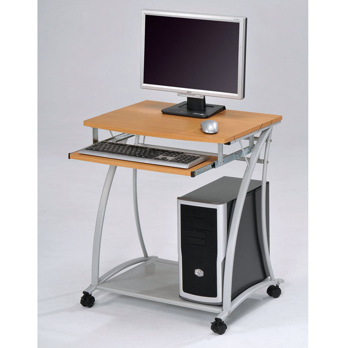 Gorgeous Small Computer Desk Outstanding Small Computer Desk Small Desk On Wheels Sidetracked