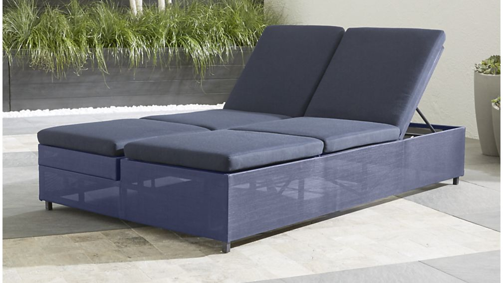 Gorgeous Sofa With Double Chaise Lounge Dune Navy Outdoor Double Chaise Lounge Crate And Barrel