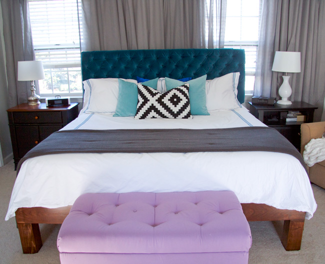 Gorgeous Tufted Headboard Bed Frame Glitter And Goat Cheese Diy Velvet Tufted Headboard Glitter