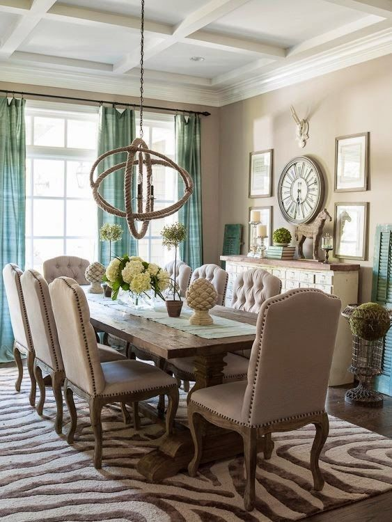 Gorgeous Turquoise Dining Room Chairs House Of Turquoise Turquoise And Beige Interior Design