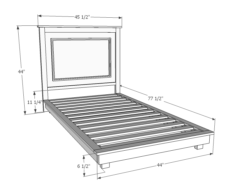 Gorgeous Twin Size Bed Frame Ana White Fillman Platform Twin Platform Bed Diy Projects