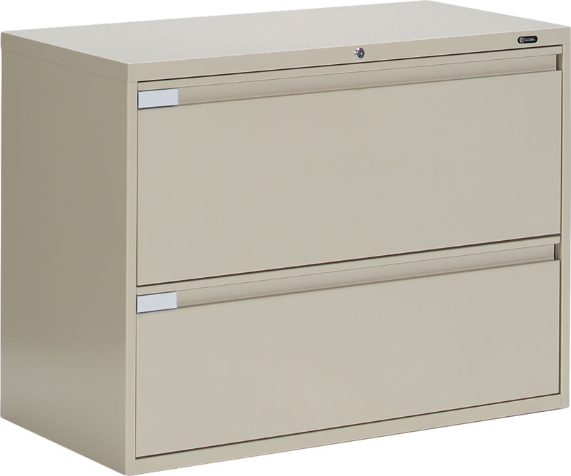 Gorgeous Two Drawer File Cabinet Global 9336p 2f1h 2 Drawer Lateral Filing Cabinet