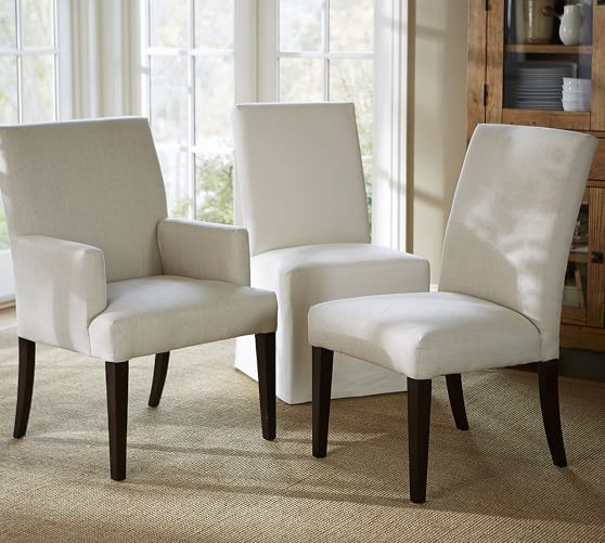 Gorgeous Upholstered Dining Chairs With Arms Pb Comfort Square Upholstered Chair Pottery Barn