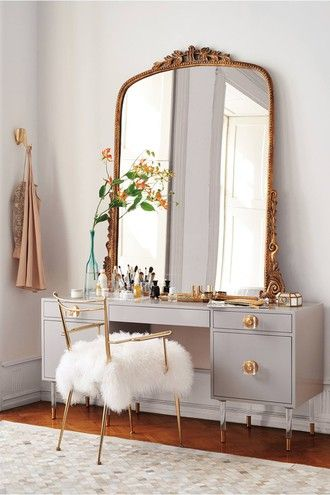 Gorgeous Vanity With Mirror And Chair Zebratrash Blogger Cocos Tea Party Home Accessory Home Decor Mirror
