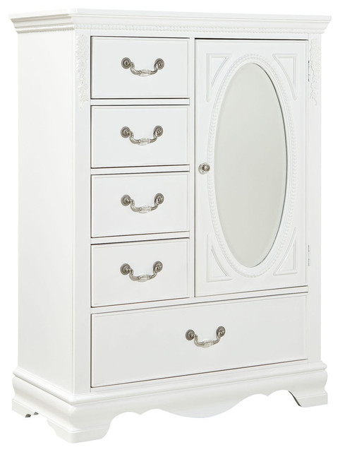 Gorgeous White Armoire With Drawers Standard Jessica Wardrobe Chest White Paint Traditional Kids