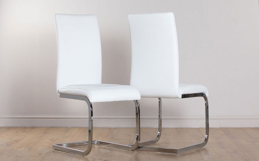 Gorgeous White Dining Chairs Dining Room The Eames Style Chair White Chairs Casanovainterior