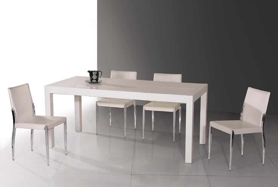 Gorgeous White Dining Table Modern T061 Modern White Extendable Lacquer Table Dining Tables