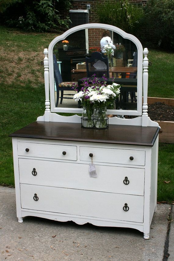 Gorgeous White Dresser With Brown Top Best 25 White Dresser With Mirror Ideas On Pinterest Bedroom