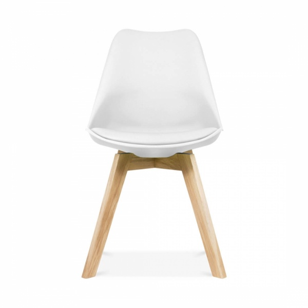 Gorgeous Wood And White Dining Chairs Eames Inspired White Dining Chairs With Crossed Wood Leg Cult Uk