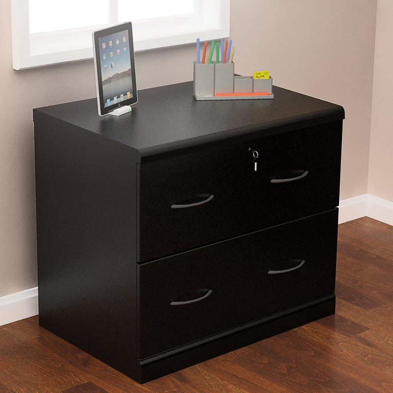 Great 2 Drawer Wood Lateral File Cabinet With Lock Locking Filing Cabinets Youll Love Wayfair