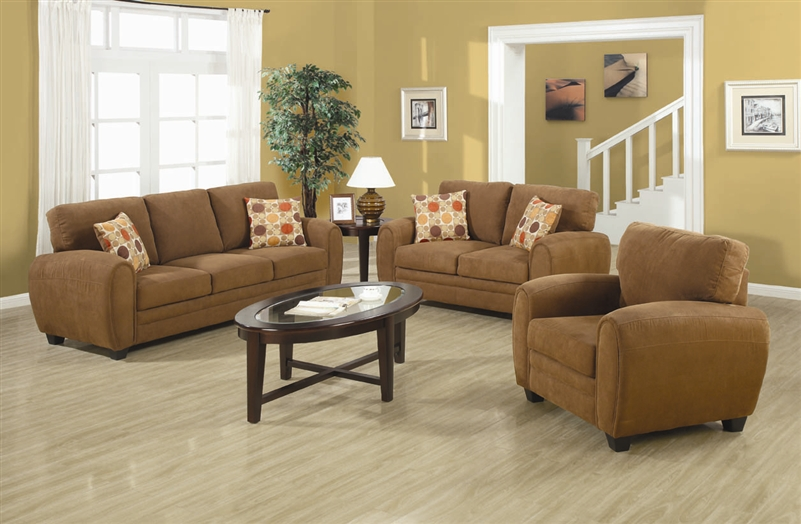 Great 2 Piece Sofa Set Sibley 2 Piece Sofa Set In Coffee Twill Upholstery Coaster