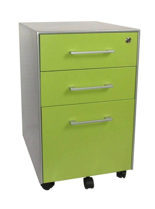 Great 3 Drawer Metal Filing Cabinet With Lock Remarkable Pedestal Drawer Cabinets With Brushed Satin Nickel