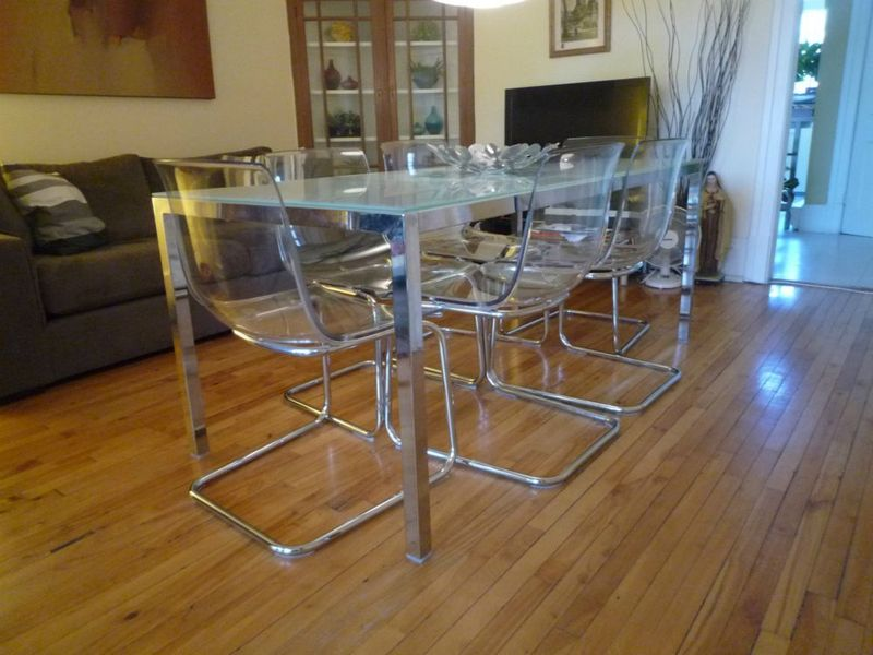 Great Acrylic Dining Chairs Ikea Extraordinary Tables For