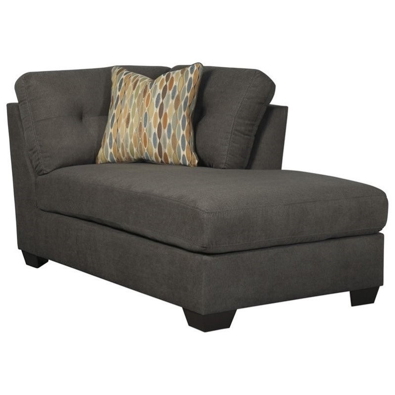 Great Ashley Furniture Chaise Lounge Ashley Furniture Delta City Right Corner Chaise Lounge In Steel
