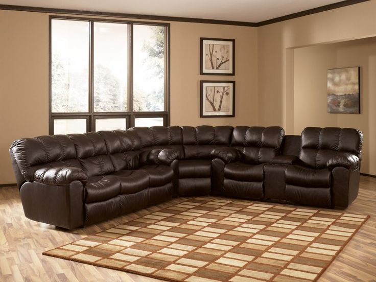 Great Ashley Furniture Leather Recliners Max Chocolate Reclining Sectional Collection Ashley Furniture