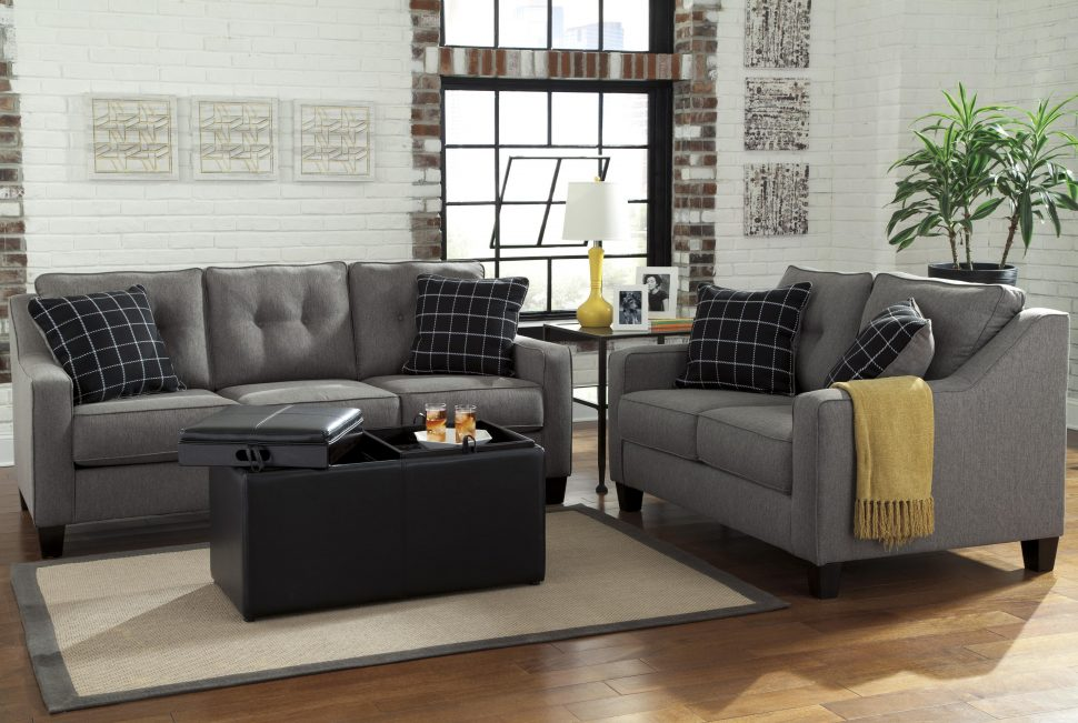 Great Ashley Gray Leather Sofa Sofas Magnificent Ashley Microfiber Sofa Ashley Furniture Sofa