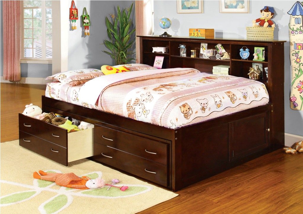Great Bed With Side Headboard Storage Bed With Bookcase Headboard For Kids Storage Ideas