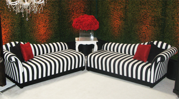 Great Black And White Chaise Encoreblack White Stripe Chaise Town Country Event Rentals