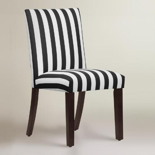 Great Black And White Dining Chairs And White Stripe Dining Chair
