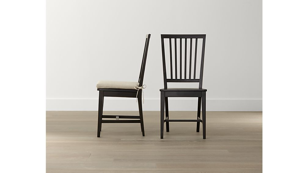 Great Black And Wood Dining Chairs Village Bruno Black Wood Dining Chair Crate And Barrel