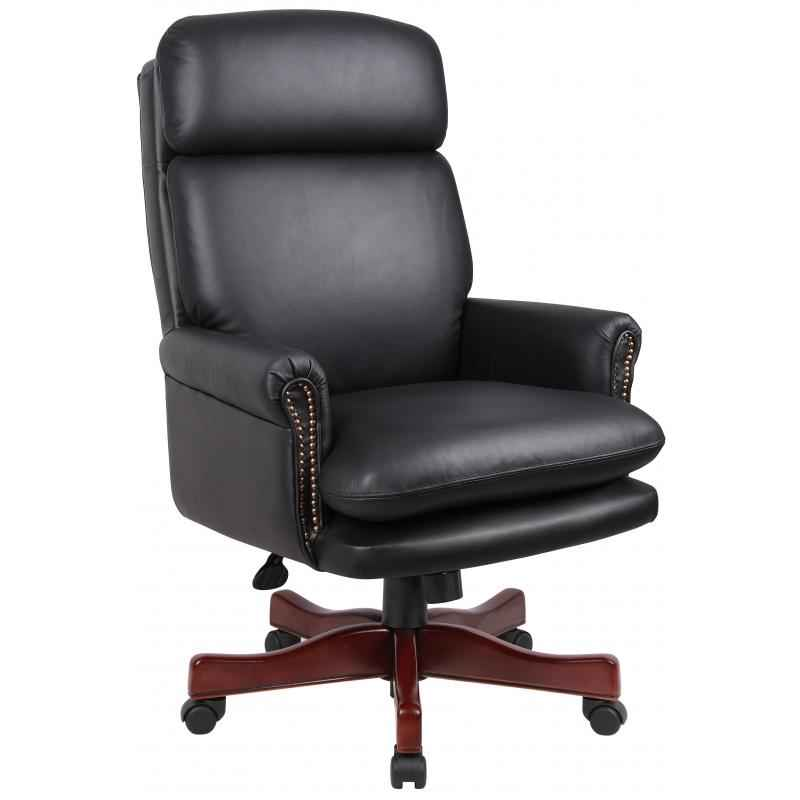 Great Black Leather Office Chair Boss Black Leather Executive Chair Review Office Architect