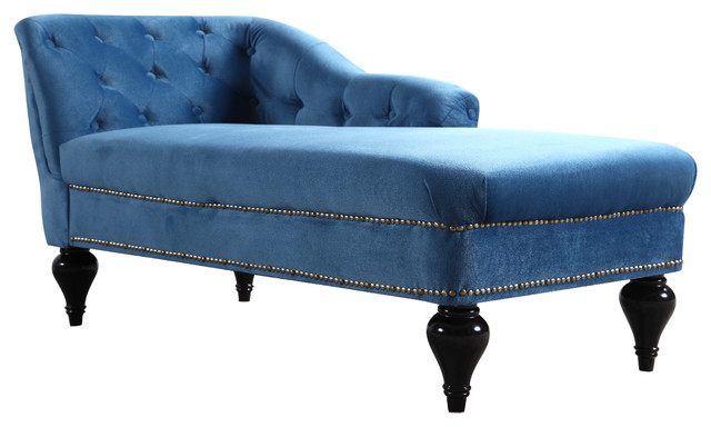 Great Blue Chaise Lounge Indoor Elegant Kids Velvet Chaise Lounge For Living Room Or Bedroom