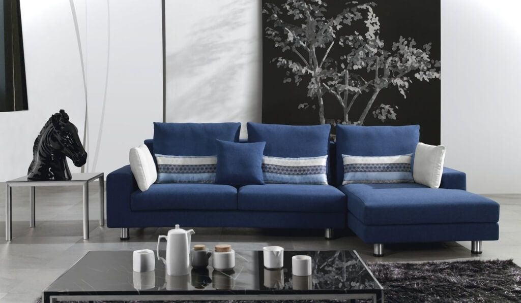 Great Blue Leather Chaise Lounge Furniture Best Navy Blue Sectional Sofa With Chaise Lounge Tips