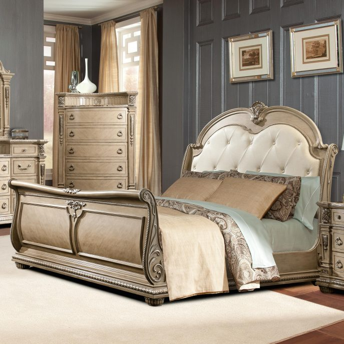Great California King Tufted Sleigh Bed Bedroom Upholstered Sleigh Bed California King Tufted Sleigh Bed