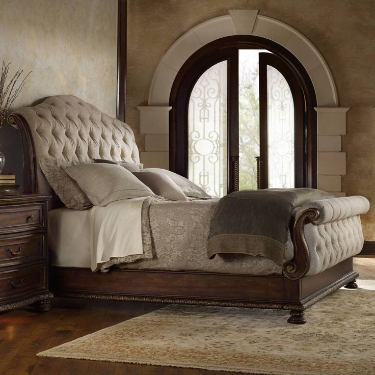 Great California King Tufted Sleigh Bed Hooker Furniture Adagio Tufted Upholstered Bed Sleigh Beds At
