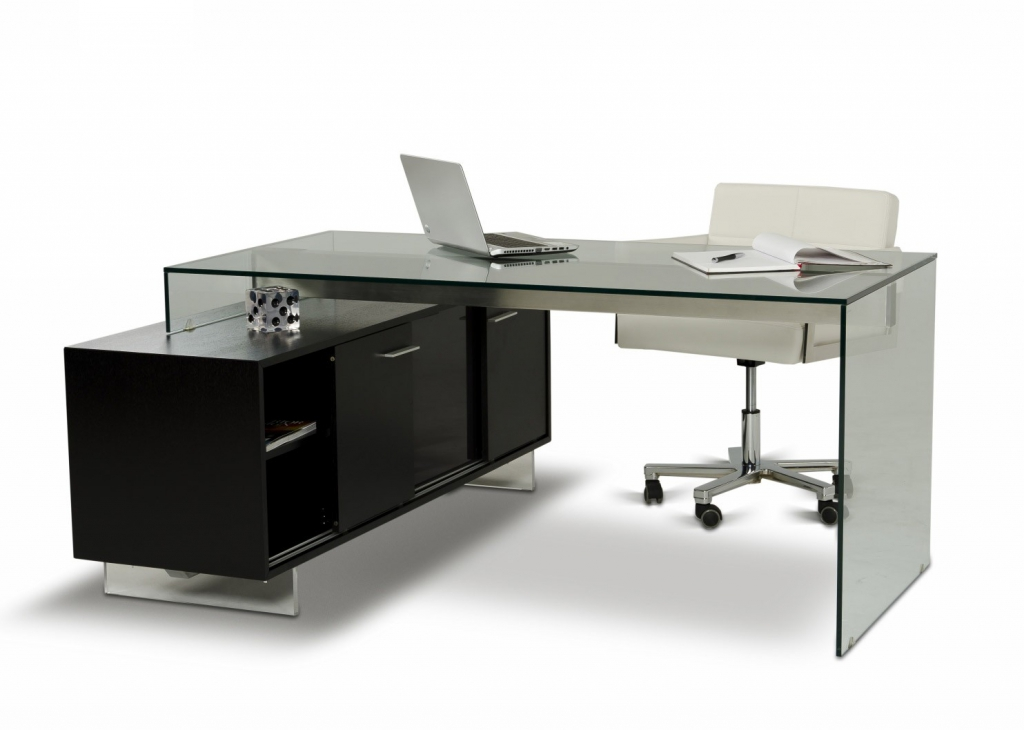 Great Compact Office Furniture Compact Glass Computer Desk Real Wood Home Office Furniture