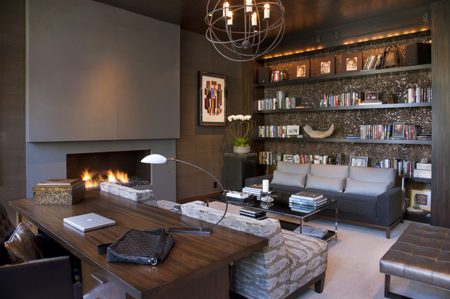 Great Contemporary Home Office Hollywood Glamour Meets Modern Contemporary Home Office San