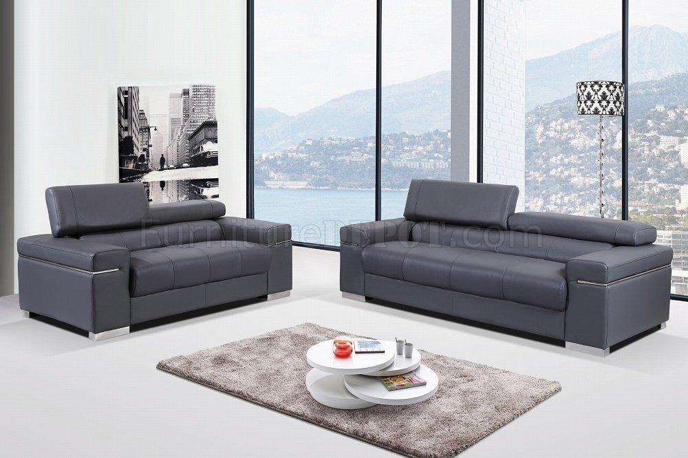 Great Contemporary Sofa And Loveseat Soho Sofa In Grey Leatherleather Match Jm Woptions
