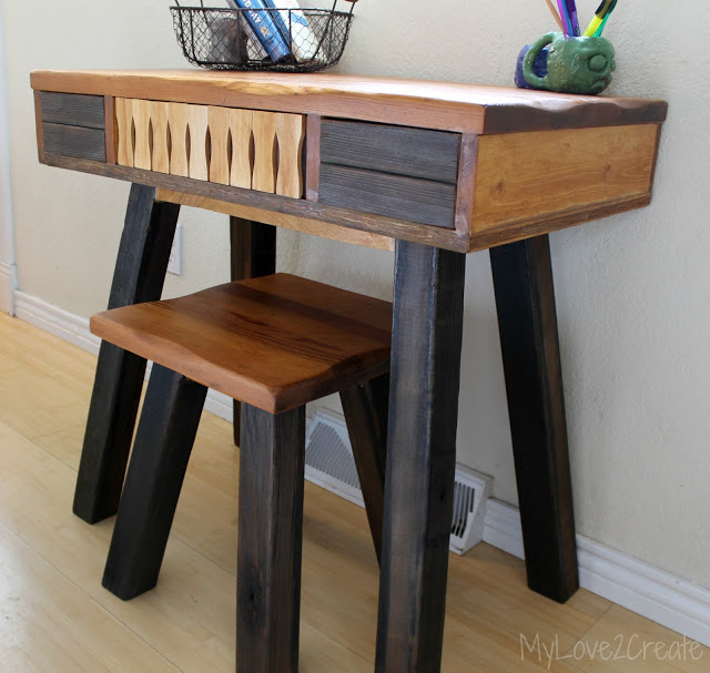 Great Create A Desk I Turned An End Table Into A Desk My Love 2 Create