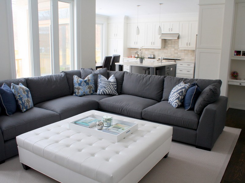 Great Dark Gray Sectional Sofa Simple Grey Sectional Couches Sofa Sofas Cocktail Ottoman For With