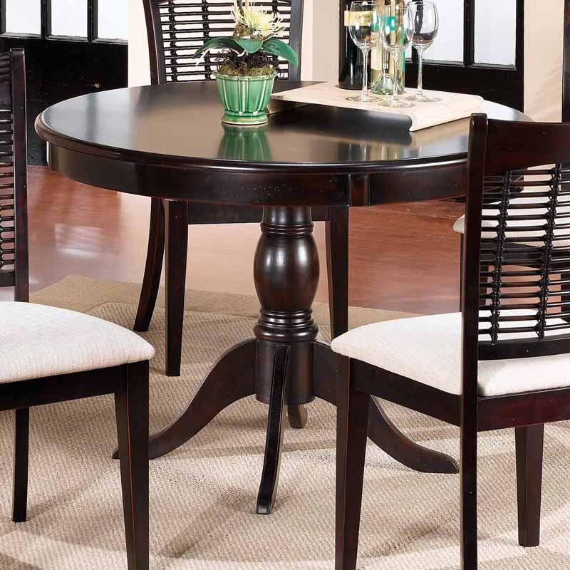 Great Dark Wood Round Table Hillsdale Bayberry 44 In Round Pedestal Dining Table Dark Cherry