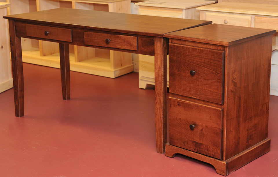 Great Desk And File Cabinet Maple Writing Desk And File Cabinet Finished