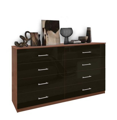 Great Double Chest Of Drawers 8 Drawer Double Dresser Chest Of Drawers Contempo Space