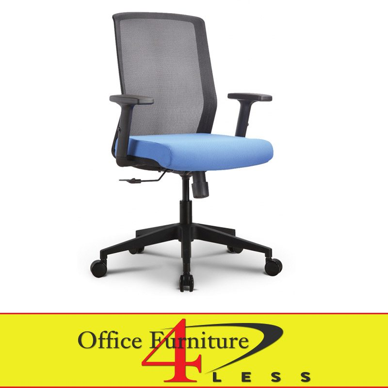 Great Ergonomic Task Chair C 611bc Ps1 Bl Meshback Ergonomic Task Chair Blue Office