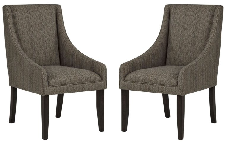 Great Fabric Dining Chairs With Arms Furniture Grey Fabric Dining Chairs With Curvy Arms Connected