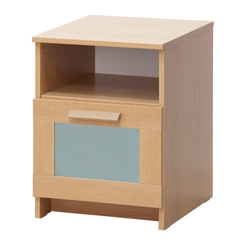 Great Glass Bedside Table Ikea Brimnes Bedside Table Oak Effectfrosted Glass 39x41 Cm Ikea