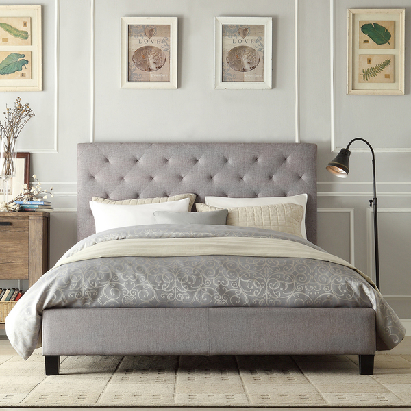 Great Grey Full Size Bed Bedding Impressive Tufted Beds Grey Diamond Bed Frame With