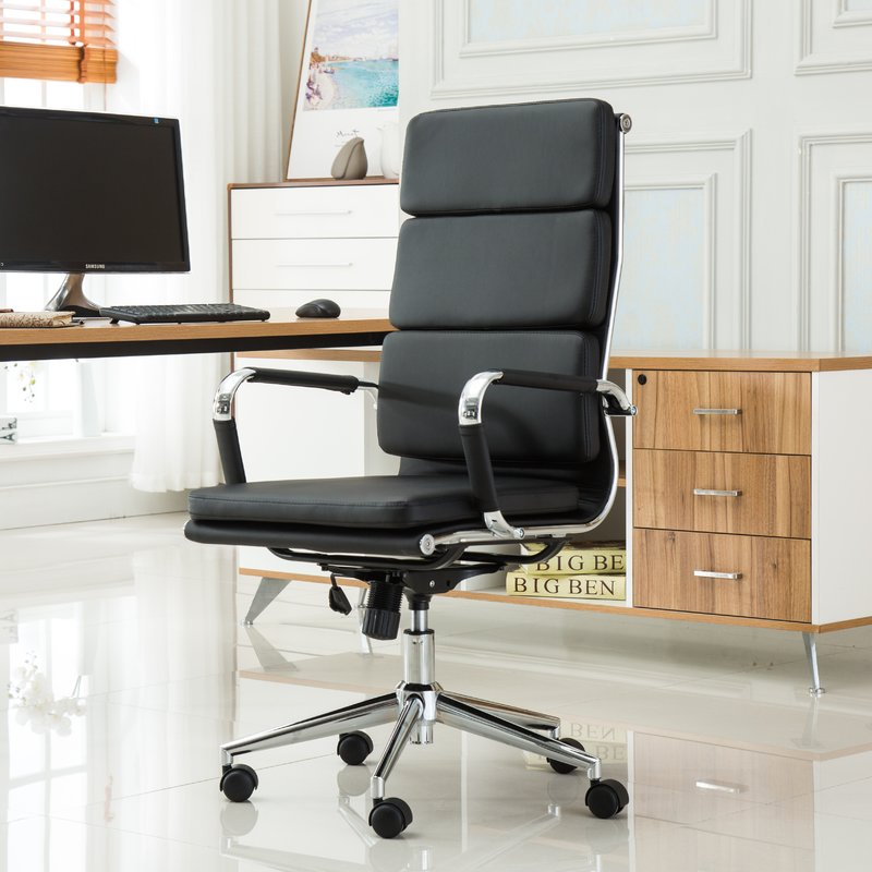 Great High Desk Chair Roundhill Furniture Modica Contemporary High Back Office Desk