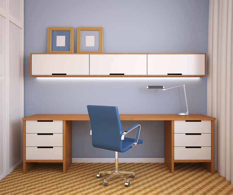Great Home Office Desk With Shelves Declutter With These Home Office Storage Ideas Modernize