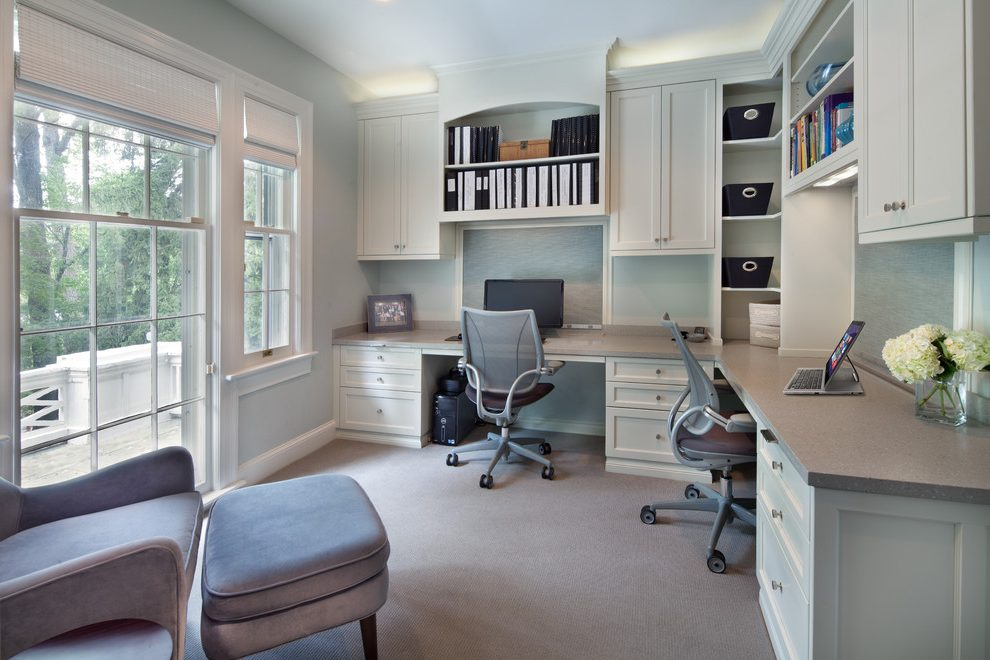 Great Home Office Organization Furniture Office Built In Bookshelves Home Office Transitional With Office
