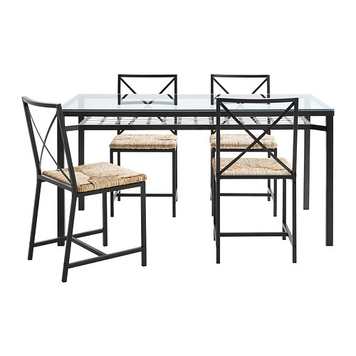 Great Ikea Glass Dining Table And Chairs Grans Table And 4 Chairs Ikea