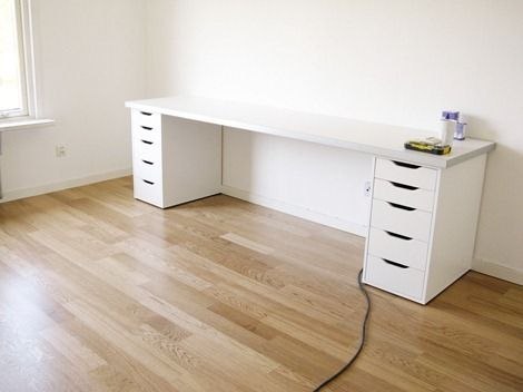 Great Ikea Office Drawers Ikea Desk Did A Version Of This Using Two 45 Desks Side
